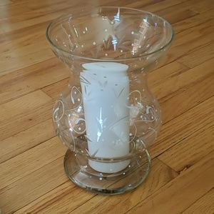 Partylite Hurricane Candle Holder Vase